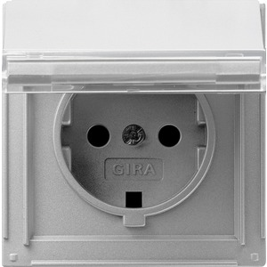 SCHUKO-Steckdose KD beschriftbar für TX_44 (WG UP) Farbe Aluminium