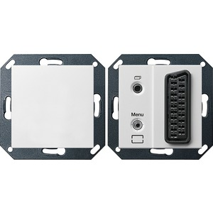 TKS TV Gateway für System 55 reinweiß matt