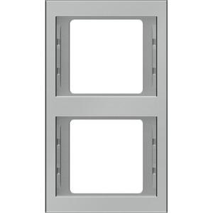 Abdeckrahmen 2-fach K.5 - Edelstahl/ Rostfrei