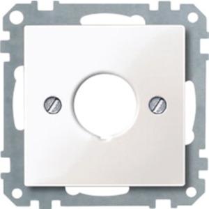 Merten Zentralplatte für Befehlsgeräte aktivweiß glänzend