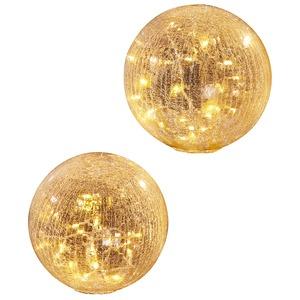 LED Glaskugel Rissoptik für innen ø 25 cm LED warm - weiß