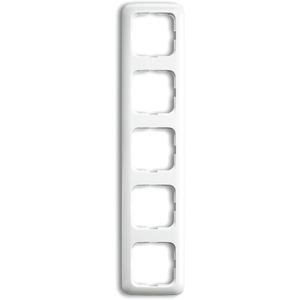 Abdeckrahmen Reflex 5-fach weiß glänzend