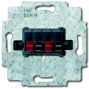 Unterputz Einsatz Lautsprecher-Anschlussdose 2-fach schwarz