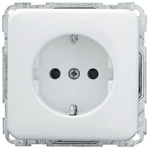 Schuko-Steckdose mit schraubloser Steckklemme 2-polig 250 V 10/16A weiß