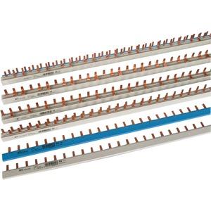Phasenschiene 1Ph 16qmm gewinkelt grau Stift 1m