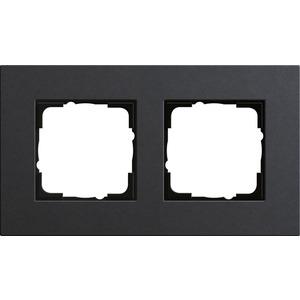 2-fach Abdeckrahmen für Esprit Linoleum-Multiplex anthrazit