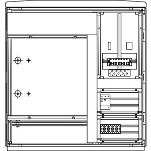 Kabel-Hausanschluss-Zählerverteiler Freistehend 785x836x322mm