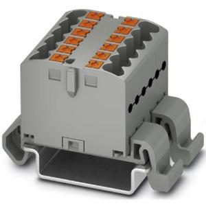 Verteilerblock waagrecht 12 x 2,5mm² grau