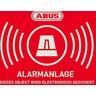 Warn-Aufkleber Alarm mit ABUS Logo 74x52,5mm