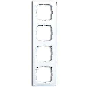 Abdeckrahmen 4-fach Linear-102 weiß glänzend Reflex SI