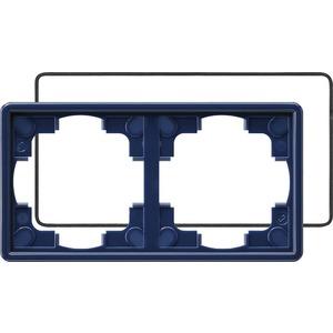 2-fach Abdeckrahmen IP21 für S-Color blau