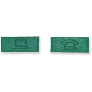 Kennzeichnungs-Ikon Computer / Telefon grün RAL 6029