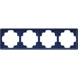 4-fach Abdeckrahmen für S-Color blau