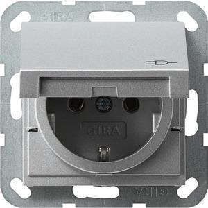 SCHUKO-Steckdose KD für System 55 Aluminium