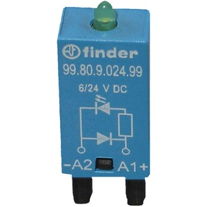 Modul-EMV LED-grün + Freilaufdiode 6 -2 4 V DC Serie 99