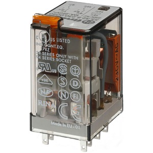 Industrierelais steckbar 2W 10A 230VAC Prüftaste + Anzeige Serie 55