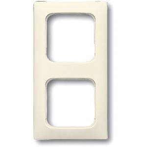 Abdeckrahmen 2-fach Linear-102 cremeweiß glänzend