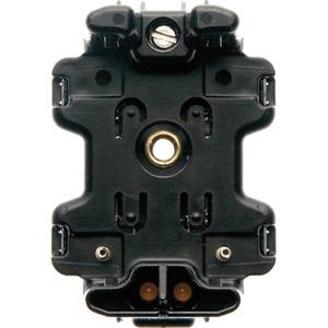 Serien-LED-Aggregat mit N-Klemme Modul Einsatz schwarz