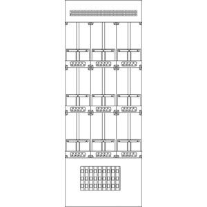Kunststoff-Zählergerüst Wien 630x1690x137 mm