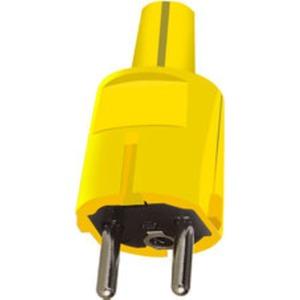 SCHUKO-Stecker PVC gelb + Erdung CEE 7/VII