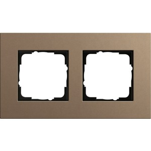 2-fach Abdeckrahmen für Esprit Linoleum-Multiplex hellbraun