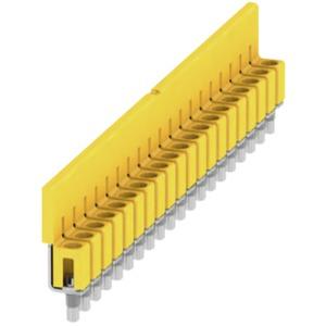 Querverbinder Klemmen geschraubt 20-polig Raster: 5,1 mm 32A gelb