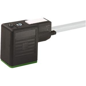 Ventilstecker Bauform BI 24V AC/DC LED 3-polig 5m Kabel offenes Ende