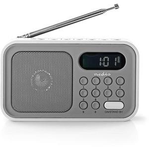 Radio Portable UKW Uhr und Alarm RDFM2200WT