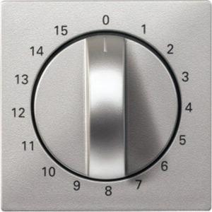 Zentralplatte für Zeitschalter-Einsatz 15 min aluminium