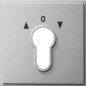 Abdeckung Schlüsselschalter für TX 44 (WG UP) Farbe Aluminium