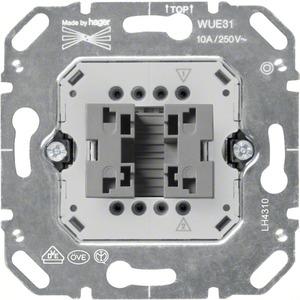 Wipp-Taster-Einsatz Schließer 1-polig 10 A 250 V AC