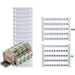 Klemmenmarkierer / Verbindermarkierer 5 x 5 mm Polyamid Nr. 1-10