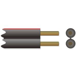 Lautsprecherkabel LSPR 2x1,5 rot/schwarz 100m Spule