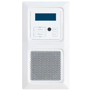 Paket Creo UP-Radio mit Lautsprecher und 2-fach Rahmen ultraweiß