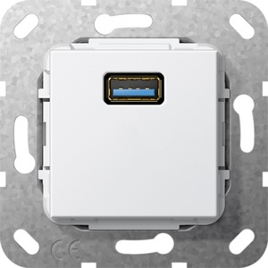 USB 3.0 A Kabelpeitsche Einsatz reinweiß