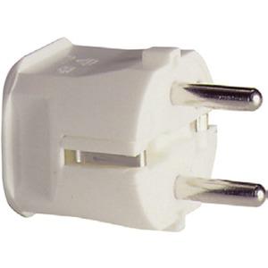SCHUKO-Stecker Thermoplast weiß