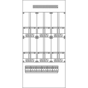 Kunststoff-Zählergerüst 630x1300x97 mm