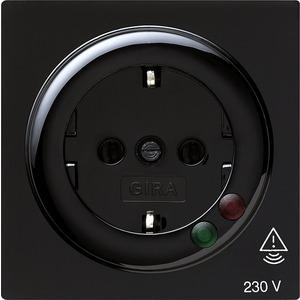 SCHUKO-Steckdose Überspannungsschutz für S-Color schwarz