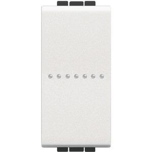 LIVINGLIGHT Taster 250V AC 10A 1-modulig weiß