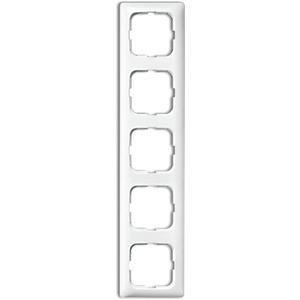 Abdeckrahmen 5-fach Linear-102 weiß glänzend Reflex SI