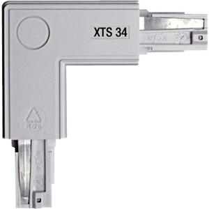 NOA Eckverbinder grau 90° Schutzleiter links/außen XTS 34-1