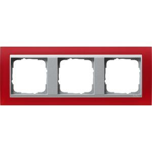 3-fach Abdeckrahmen für Aluminium Event Opak rot