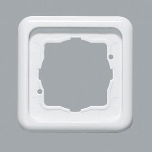 Abdeckrahmen 1-fach ultraWeiß waag/senkr. Montage 80,5 x 80,5 mm