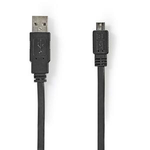 Datenkabel USB 2.0 Flachkabel A-Stecker - Micro-B-Stecker 1,0 m