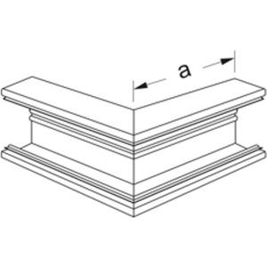 Hager Außeneck PVC BR 70130 cremeweiß