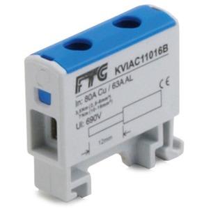 Kompaktaluklemme 1-pol. Cu/AL 1,5-16mm² 80/63A 1/1 blau