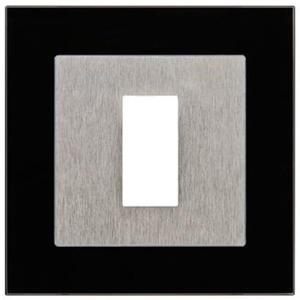 Rahmen Unterputz Glas schwarz für Fingerscanner UP E