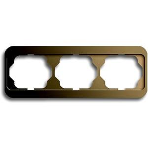 Abdeckrahmen alpha 3-fach waagerecht Bronze matt
