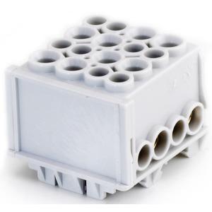 Hauptleiteranschlussklemme 1-pol. 4x 35mm² + 4x 25mm² berührungssicher grau
