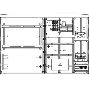 Kombizählerverteiler Gas links 1570x1080x322mm